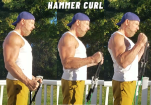 Hammer Curls bicep forearm exercise resistance bands