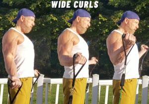 wide curls bicep exercise resistance bands
